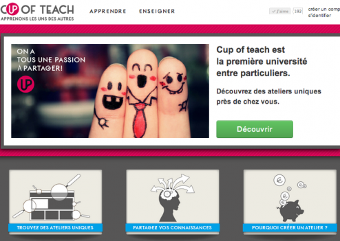 "Cup of teach, la start-up qui se veut le ""Meetic de l'enseignement"""