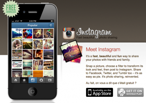 L'application Instagram est disponible sur l'App Store