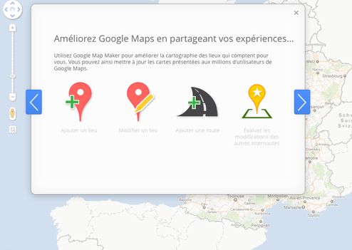 Cartographie internet : Lancement de Google Map Maker en France