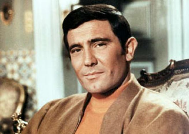 George Lazenby dans ''Au service secret de sa Majesté'', de Peter Roger Hunt (1969)  <em>United Artists</em>