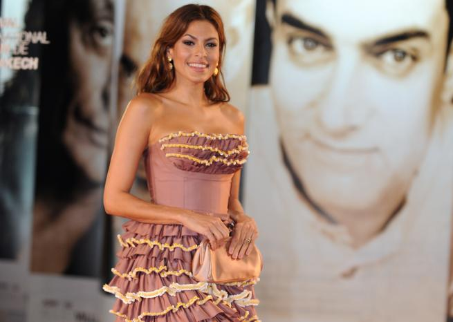 "Eva Mendes (ici lors du Festival international du film de Marrakech) sera à l'affiche de ""Holly Motors"", le film de Leos Carax en compétition officielle pour la Palme d'Or. <em>AFP/ABDELHAK SENNA</em>"
