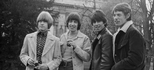 Les Rolling Stones en 1966: de gauche à droite Brian Jones, Bill Wyman, Keith Richards et Mick Jagger