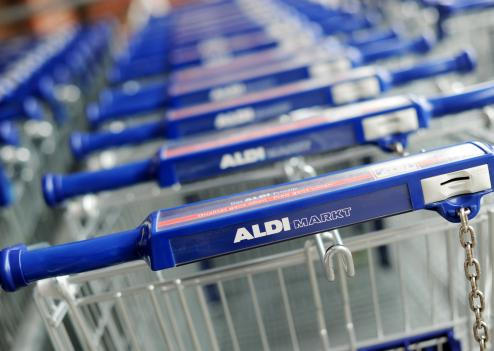 Photo d'illustation. Logo de la marque ALDI Market
