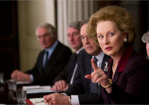 Meryl Streep plus vraie que nature en Margaret Thatcher (© Pathé)