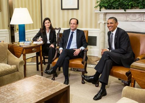 Fran ois hollande re u par barack obama la maison for Barack obama maison blanche