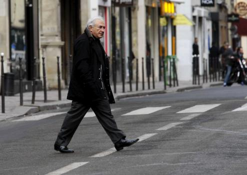 Dominique Strauss-Kahn à Paris.