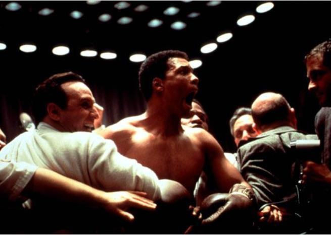 Will Smith en Mohamed Ali dans ''ALI'' (2001), de Michael Mann (© Bac Films/Columbia Pictures) <em></em>
