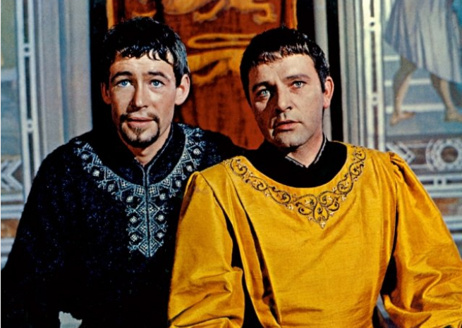 Richard Burton et Peter O'Toole dans le film ''Becket'', de Peter Glenville, en 1964  <em>Paramount Pictures/capture d'écran</em>