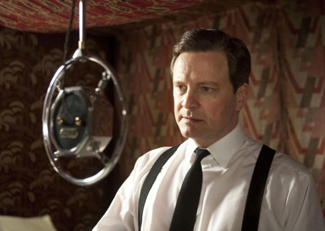 Colin Firth en George VI dans ''LE DISCOURS D'UN ROI'' (2011), de Tom Hooper (© Wild Bunch Distribution) <em></em>