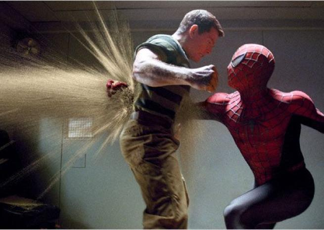 "Dans ""Spider-Man 3"" (2007), l'ennemi de Spider-Man est Flint Marko, alias l'Homme-Sable, incarné par Thomas Haden Church <em>Gaumont Columbia Tristar Films / Sony Pictures Releasing</em>"