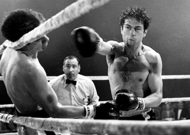 Robert De Niro en Jake La Motta dans ''RAGING BULL'' (1980), de Martin Scorsese (© United Artists) <em></em>
