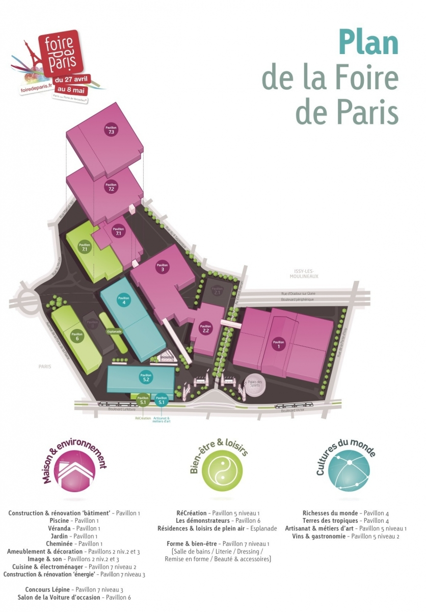 foire de paris le plan d taill et toutes les. Black Bedroom Furniture Sets. Home Design Ideas